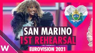 San Marino First Rehearsal: Senhit \