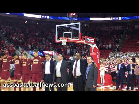 Star Spangled Banner Before Start Of Boston College Vs NC State Basketball Game - 2.20.18