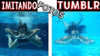 IMITANDO FOTOS TUMBLR NA PISCINA 2 - Muita Diversão