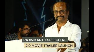 Superstar Rajinikanth Speech at   Robot 2.0 Trailer Launch   Akshay kumar   Rajnikanth  