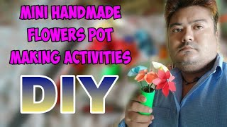 Mini Handmade Flower Pot Making Activities / DIY / Art And Craft idea / Crafting zone.