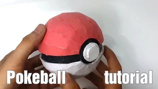 [Papercraft] Paper Pokeball tutorial - DIY
