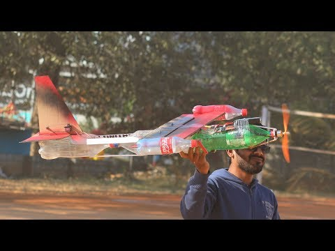 How to make aeroplane from plastic bottle that can fly