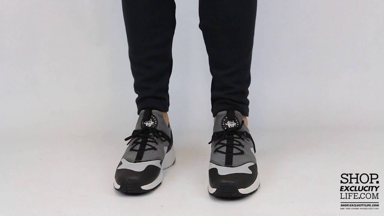 8bf936e5be8a Nike Huarache Utility Black Light Grey On feet Video at Exclucity - YouTube