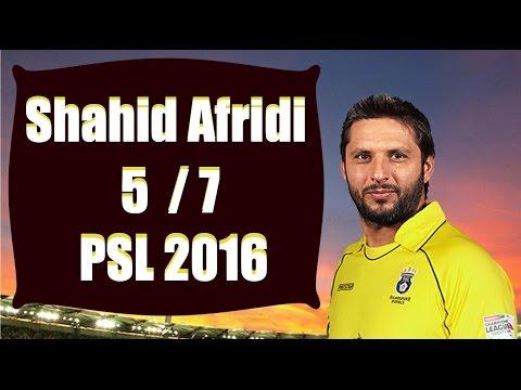 Shahid Afridi 5 for 7 PSL 2016 thumbnail