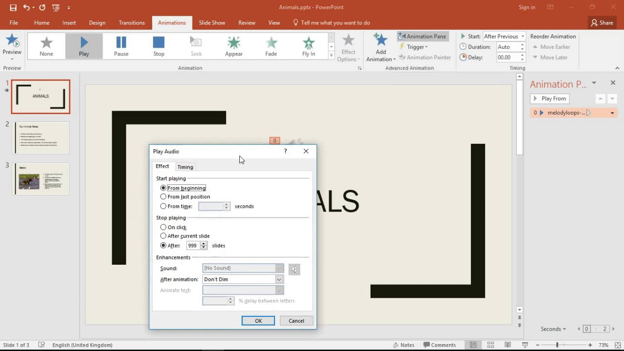 PowerPoint Stop Background Music Playing on Certain Slide