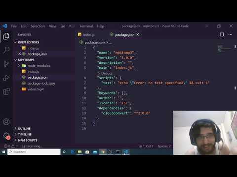 Node.js CloudConvert API Mp4 to Mp3 Full Web Application Project For Beginners 2020