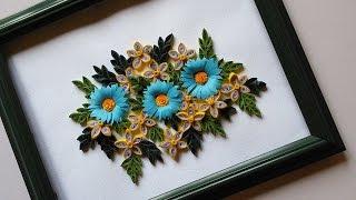 Paper Quilling Designs | Wall Frames Flowers DIY | HandiWorks #48