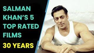 Salman Khan Top Rated Films - Salman Khan 30 Years