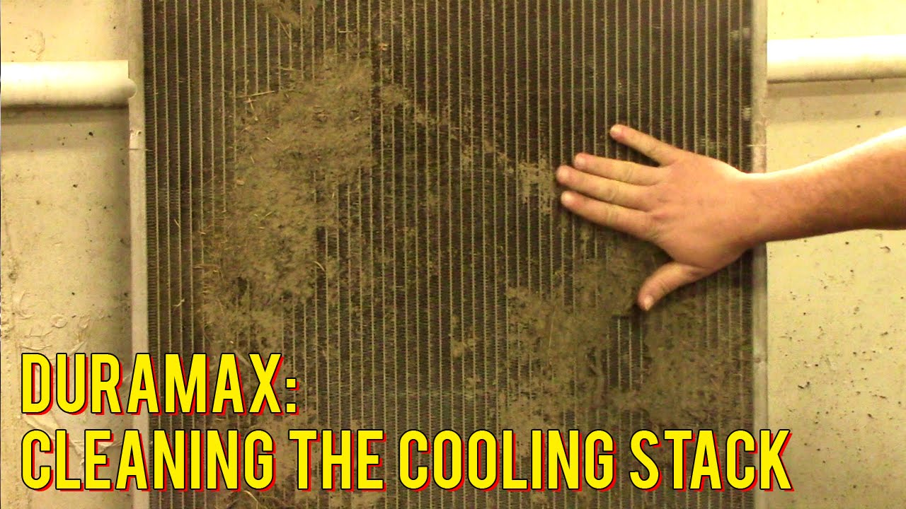 medium resolution of duramax cooling stack cleaning youtube