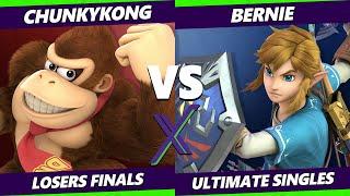 S@X 372 Online Losers Finals - Bernie (Link) Vs. ChunkyKong (Donkey Kong) Smash Ultimate - SSBU