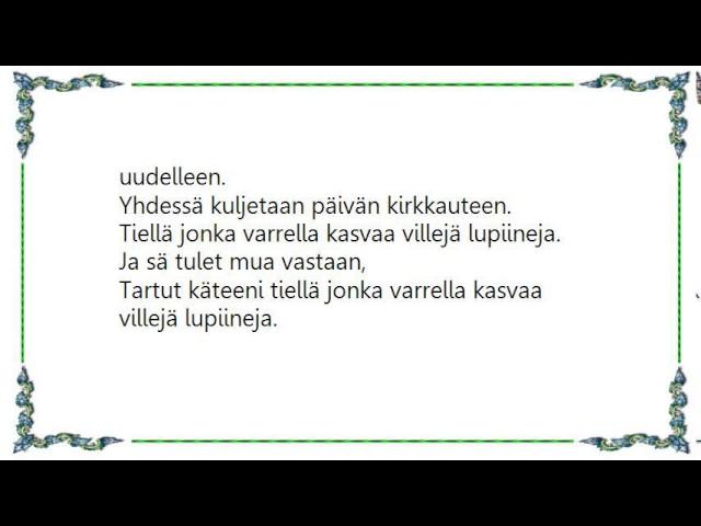 j-karjalainen-villeja-lupiineja-lyrics-sheron-milbourne