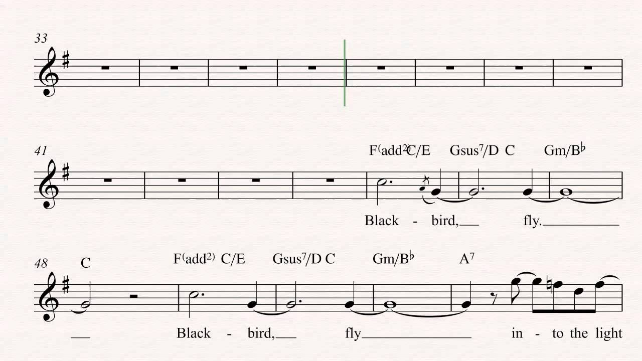 Soprano saxophone blackbird the beatles sheet music chords soprano saxophone blackbird the beatles sheet music chords and vocals hexwebz Images