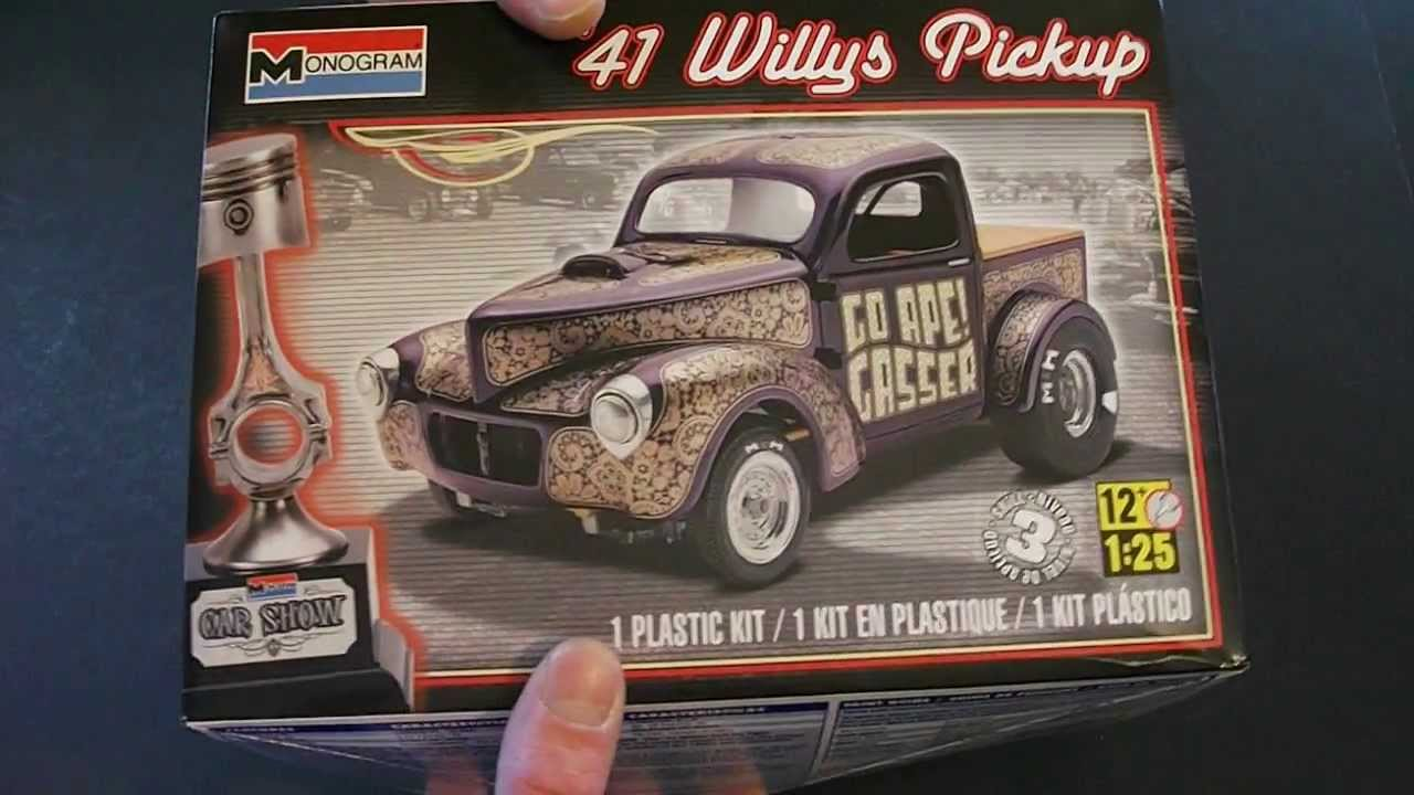 41 willys truck kit -  82 Monogram 41 Willys Pickup Review