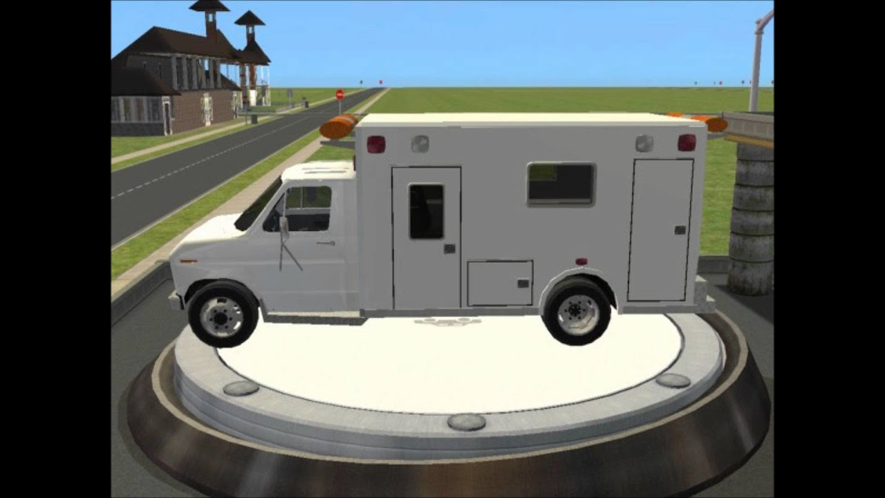 9bc01e2b5c Sims 2 Car Conversion by VoVillia Corp. - 1986 Ford E-350 Ambulance ...