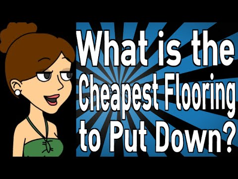 what is the cheapest flooring to put down youtube. Black Bedroom Furniture Sets. Home Design Ideas