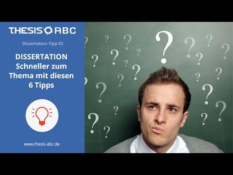 Dissertation Tipp 2: Schneller zum Thema mit diesen 6 Tipps