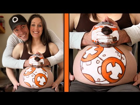 PAINTING PREGNANT BELLY!