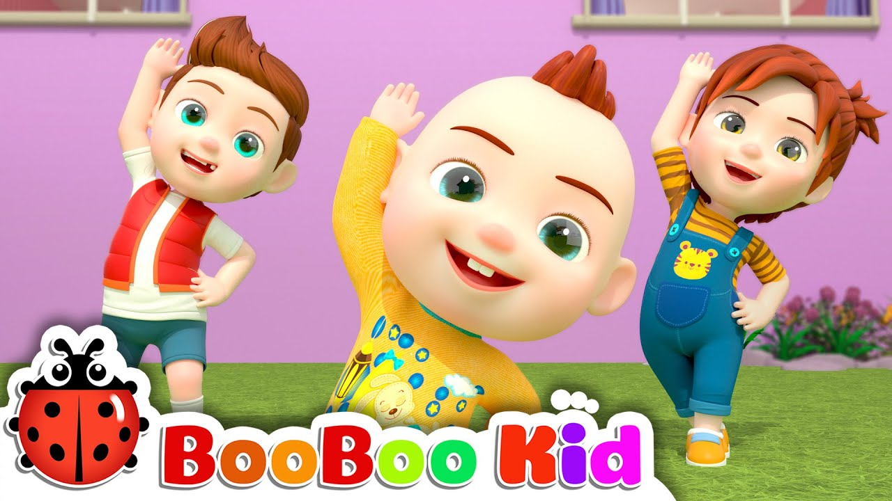 The Stretching and Exercise Song | BooBooKid Nursery Rhymes & Kids Songs