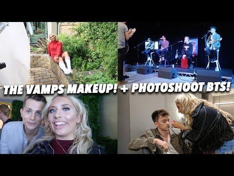 DOING THE VAMPS MAKEUP!! + PHOTOSHOOT BTS!!😝