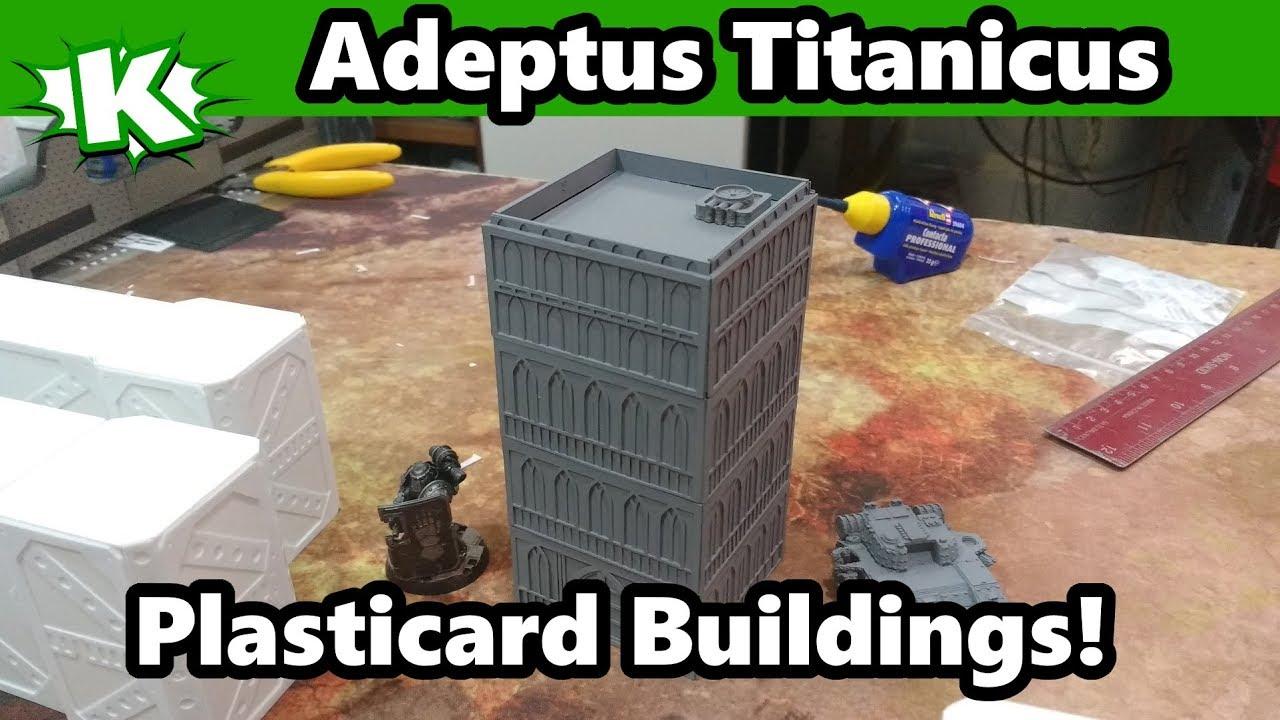 Adeptus Titanicus Terrain - Plasticard Buildings