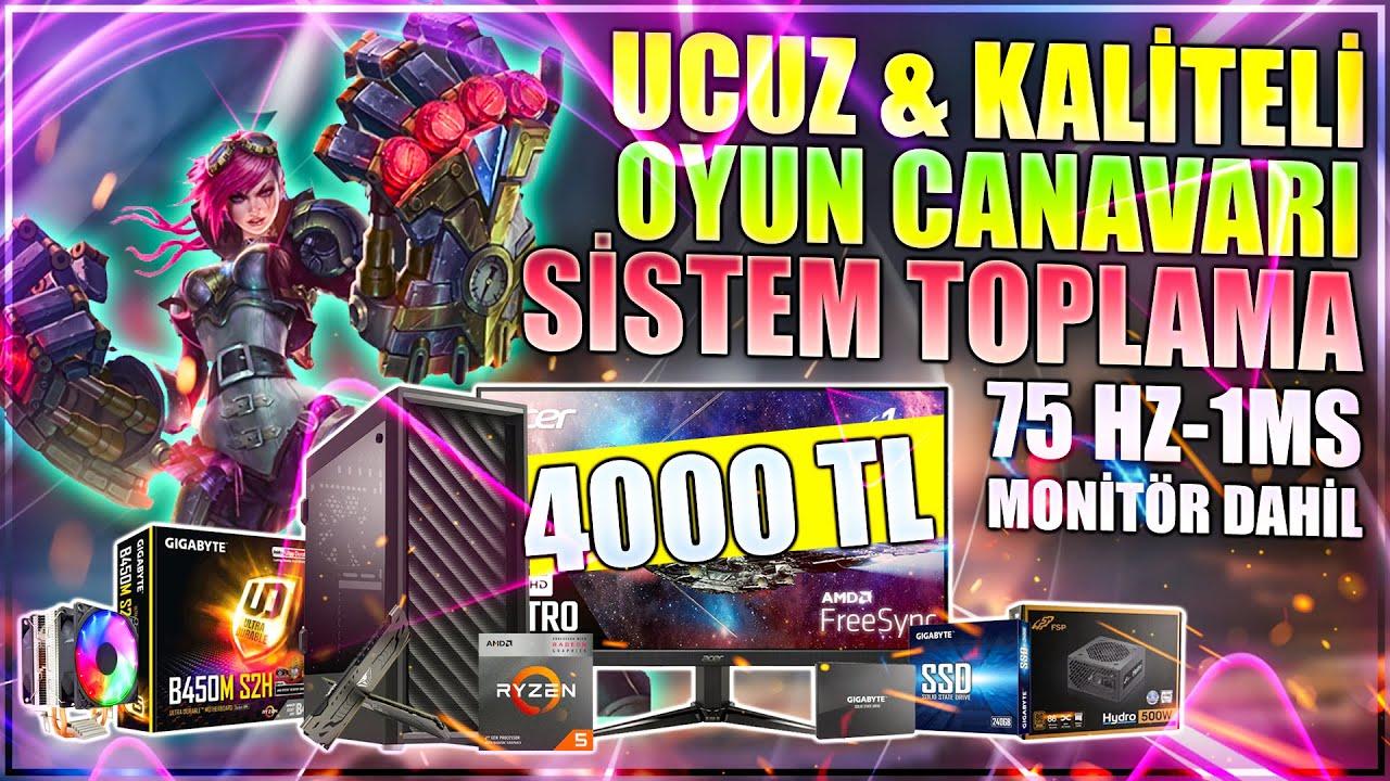 4000 TL Uygun Fiyatlı Monitör Dahil Toplama Oyun Bilgisayarı   PC Toplama Rehberi   PC Üstadı
