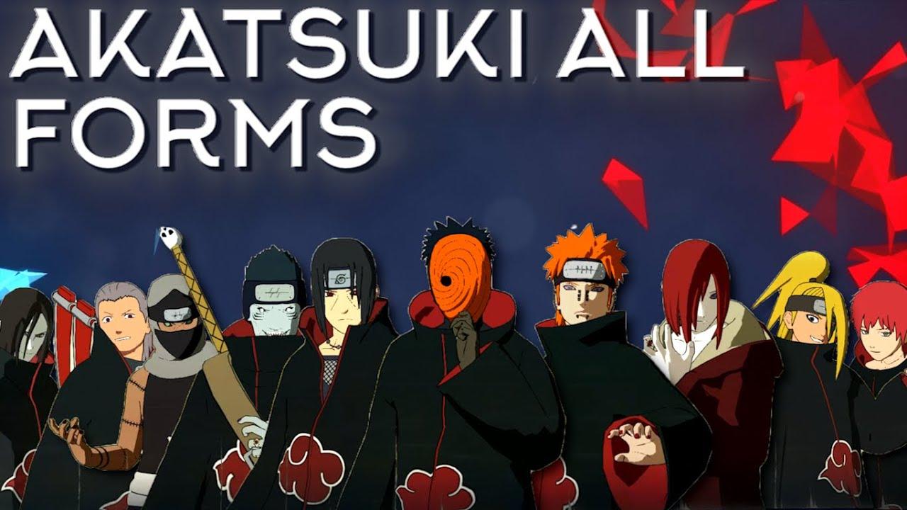 akatsuki all forms moveset+awakening+team ultimate - naruto