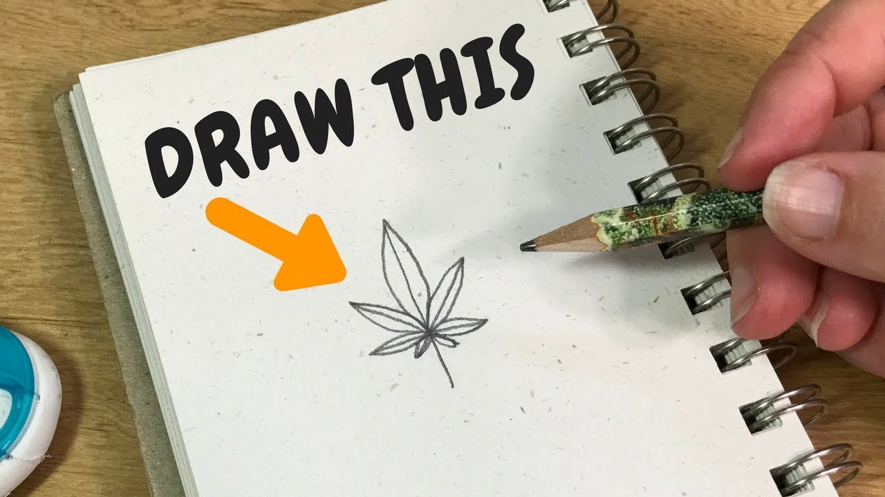 The Easiest Way To Draw A Pot Leaf Youtube