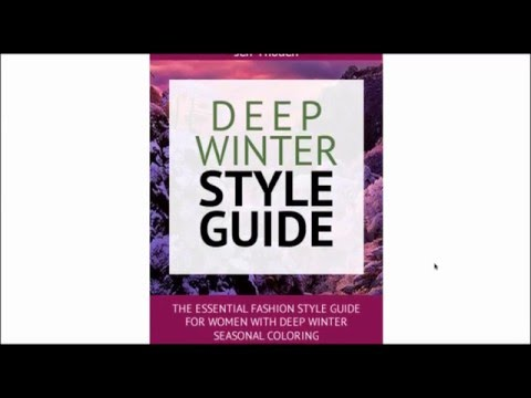 Deep Winter Style Guide  A Peek Inside  Seasonal Color Analysis