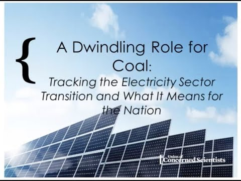 WEBINAR: Dwindling Role for Coal Union of Concerned Scientists' Findings in the Southeast