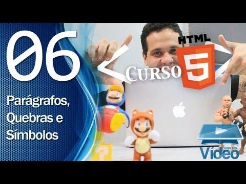 Curso de HTML5 - 06 - Parágrafos, Quebras e Símbolos Especiais - by Gustavo Guanabara