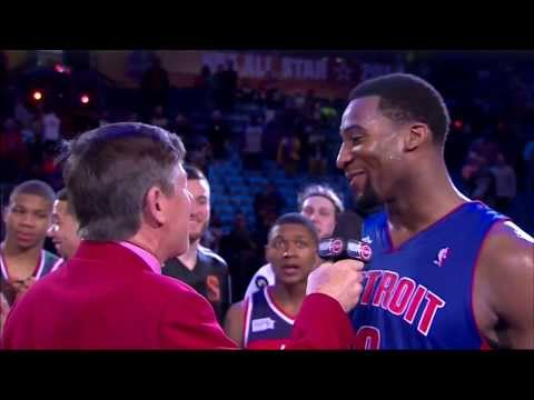 Andre Drummond - Rising Stars Challenge: 30 points, 25 rebounds (new record), 1 block, 1 steal