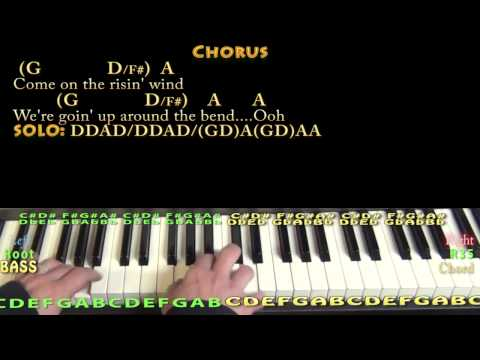 Up Around the Bend (CCR) Piano Cover Lesson with Lyrics/Chords