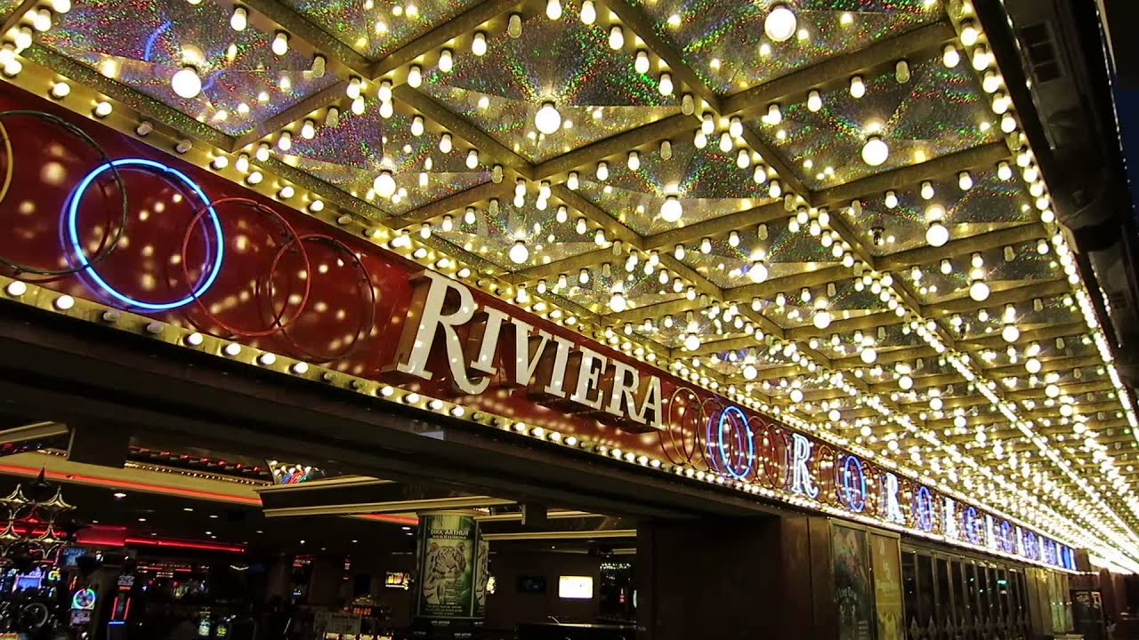 The riviera las vegas hotel casino exterior neon 1 youtube for Riviera resort las vegas