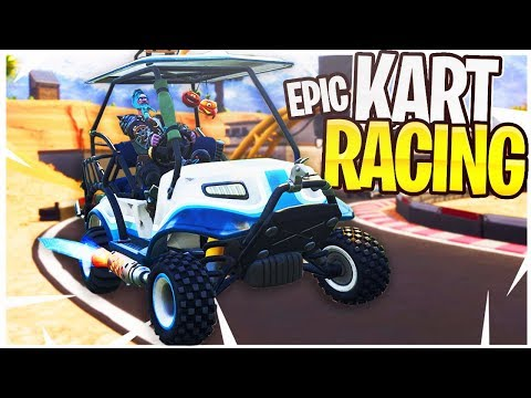 EPIC Kart Racing in Fortnite! iTemp Vs. Ali-A 1v1 ATK Racing!