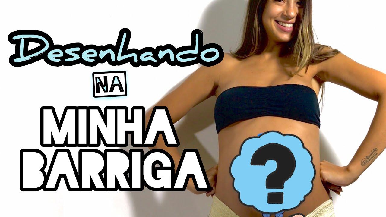 DESENHANDO NA MINHA BARRIGA | PAULA BALTH