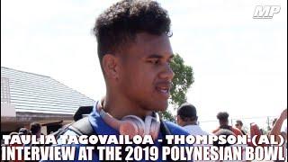 2019 Alabama signee Taulia Tagovailoa interview at Polynesian Bowl