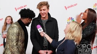 The Voice Interview: Shi'Ann Jones, Davon Fleming, Noah Mac (Team Jennifer Hudson)