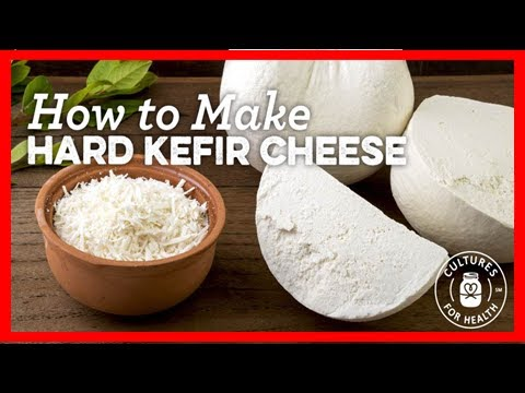 Hard kefir cheese