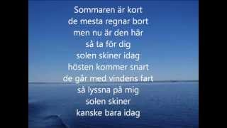 Tomas Ledin- Sommaren är kort Lyrics