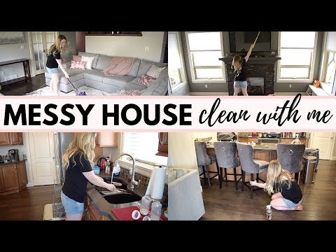 MESSY HOUSE MAIN FLOOR CLEAN  //  ULTIMATE CLEANING MOTIVATION  //  ALL DAY CLEAN WITH ME  //  SAHM