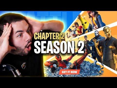 🔴FORTNITE CHAPTER 2 - SEASON 2! NEW BATTLE PASS, MAP UPDATES, MORE!