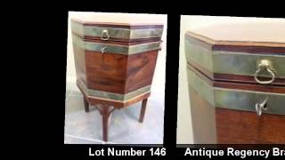 Antique Regency Cellarette | Furniture | Clarke Auction Gallery