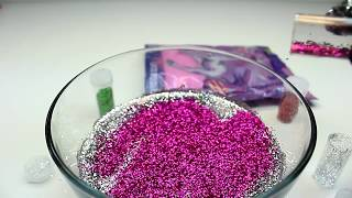 Glitter Slime Mix Sparkles Colors Combine Water Clay