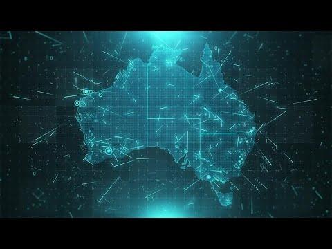 Australia Map Background Stock Motion Graphics