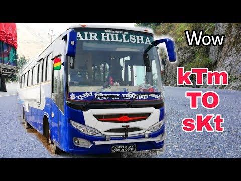 Kathmandu To Surkhet || Air Suspension Bus || Air Hilsa Night Bus