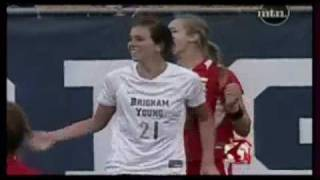 Miss Barry Hall plays soccer