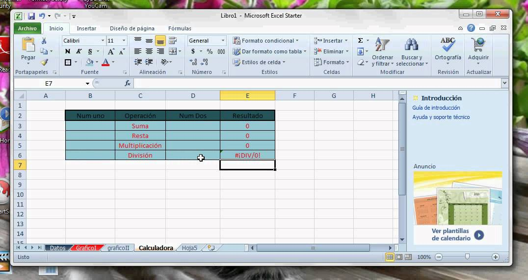Calculadora en excel youtube for Calculadora pasi