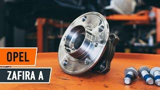 Hvordan bytte bakre hjullager på OPEL ZAFIRA A [Bruksanvisning]