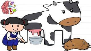 Brain Test 2: Tricky Stories Emily's Farm All Levels 1 -  21 Walkthrough Solution